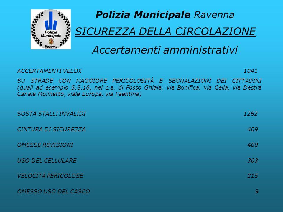 SICUREZZA DELLA CIRCOLAZIONE Accertamenti amministrativi