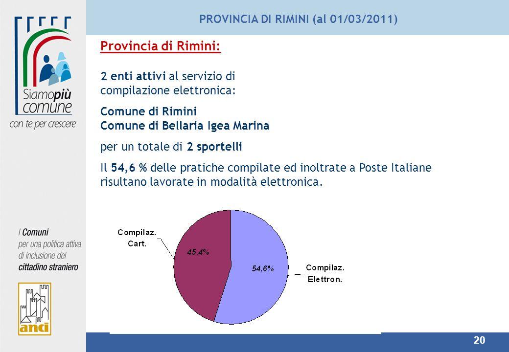 PROVINCIA DI RIMINI (al 01/03/2011)