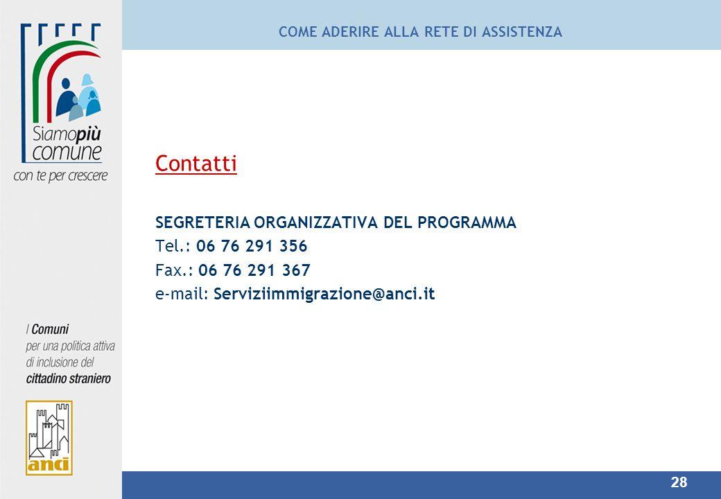 COME ADERIRE ALLA RETE DI ASSISTENZA