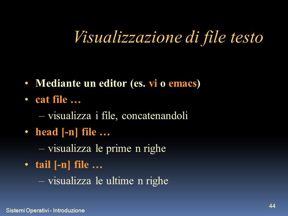 Sistemi Operativi - Introduzione