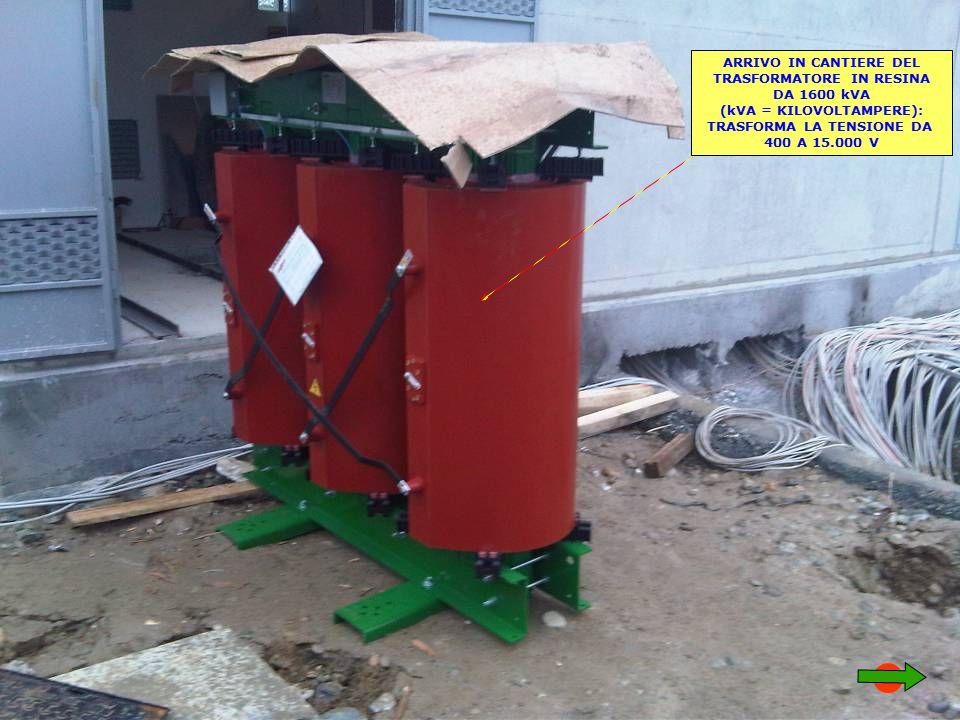 TRASFORMATORE IN RESINA DA 1600 kVA (kVA = KILOVOLTAMPERE):