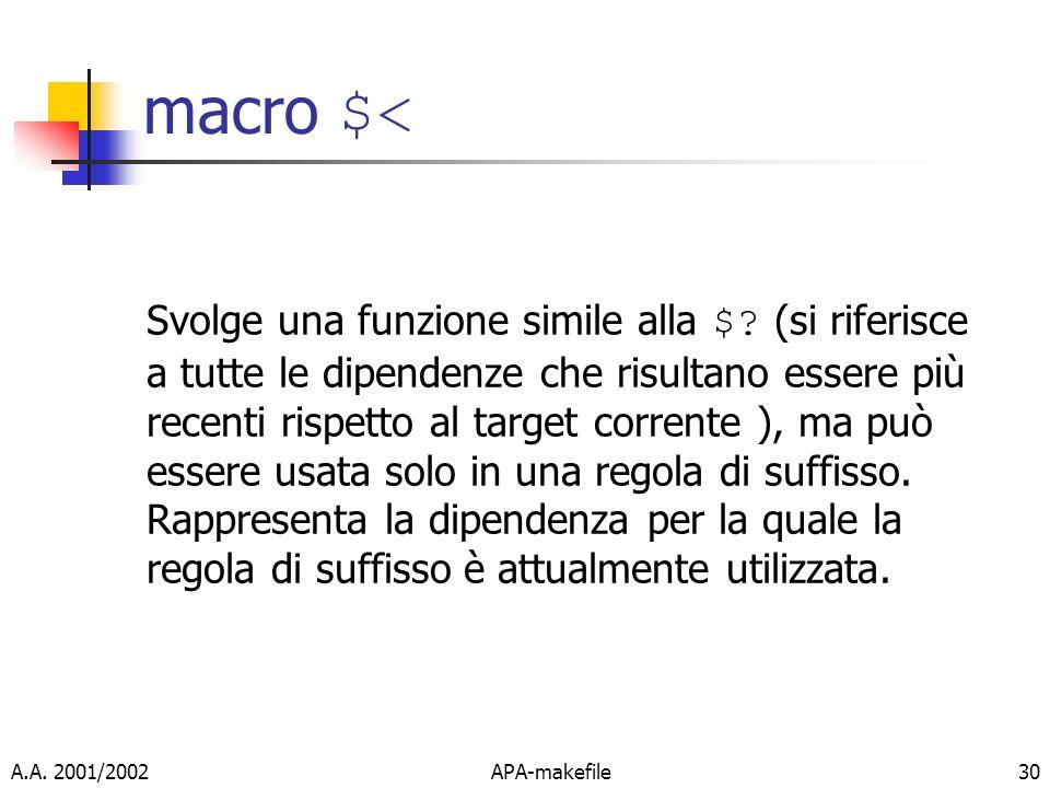 macro $<