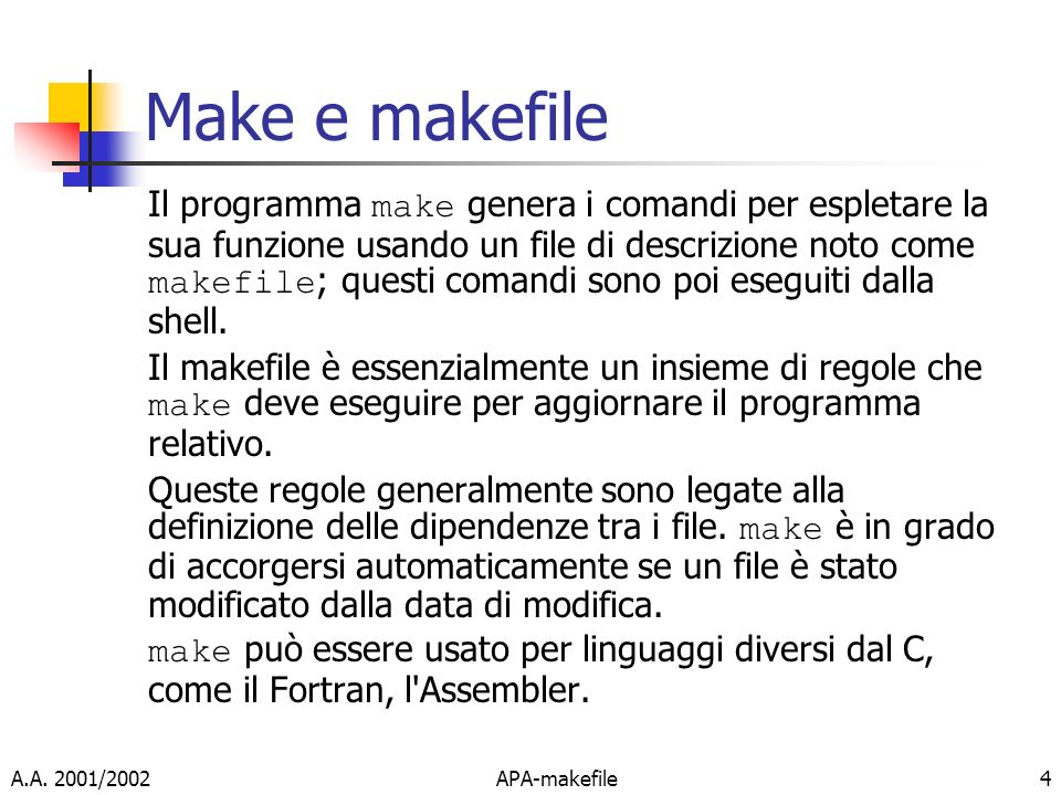 Make e makefile
