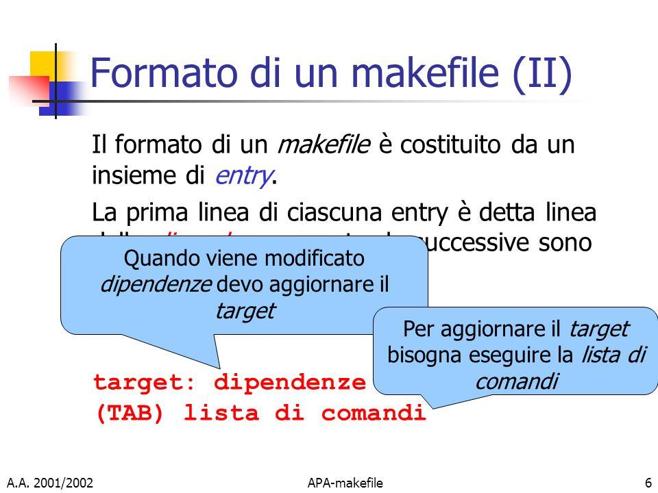 Formato di un makefile (II)