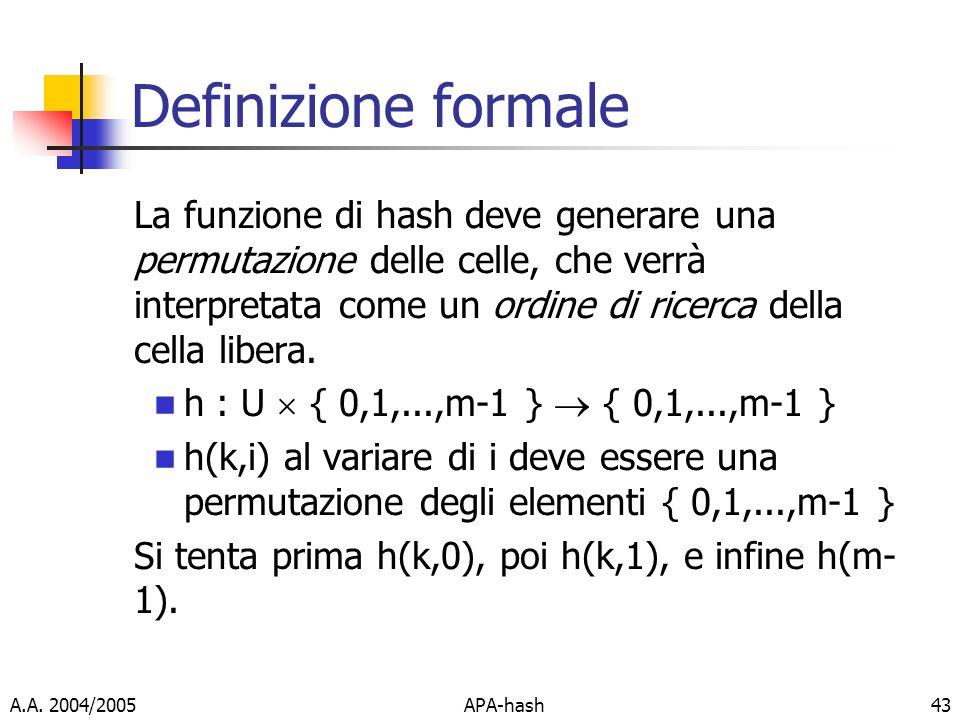 Definizione formale