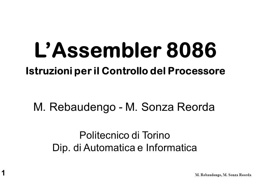 Istruzioni per il Controllo del Processore