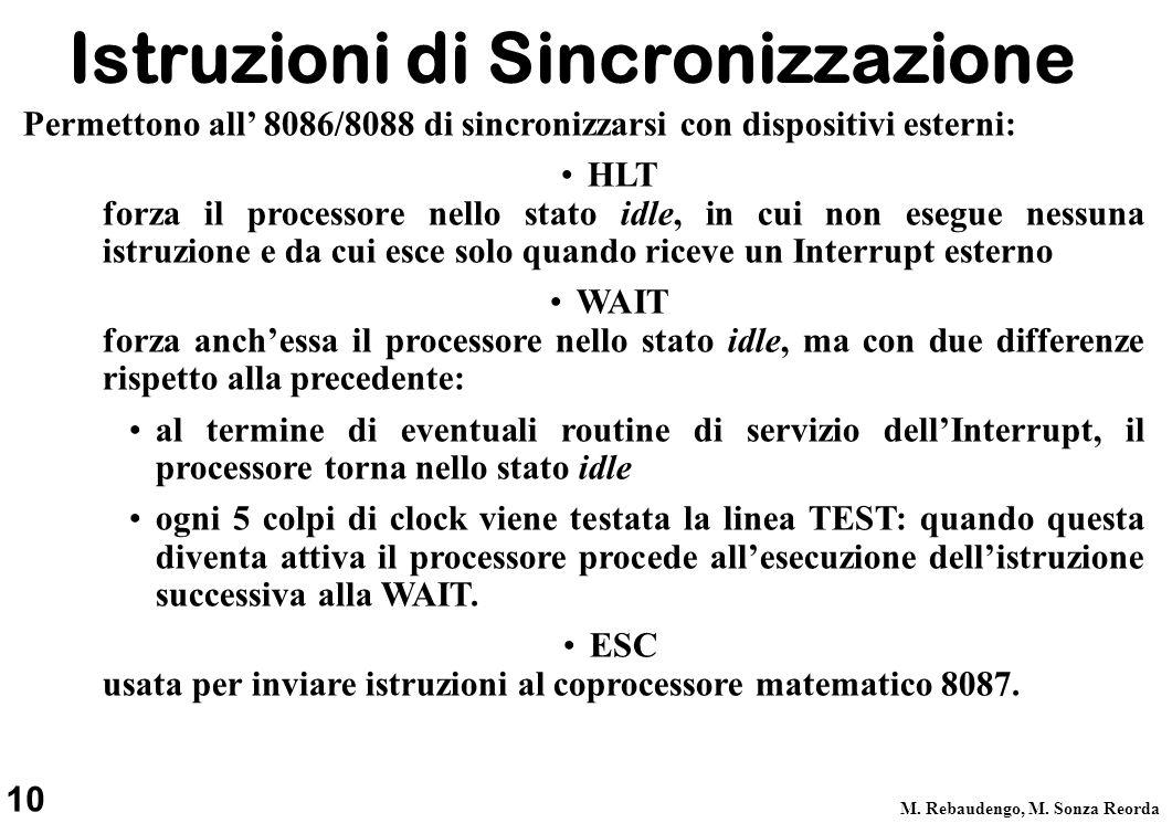 Istruzioni di Sincronizzazione