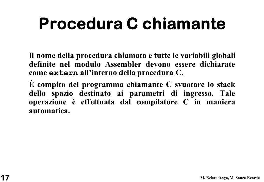 Procedura C chiamante