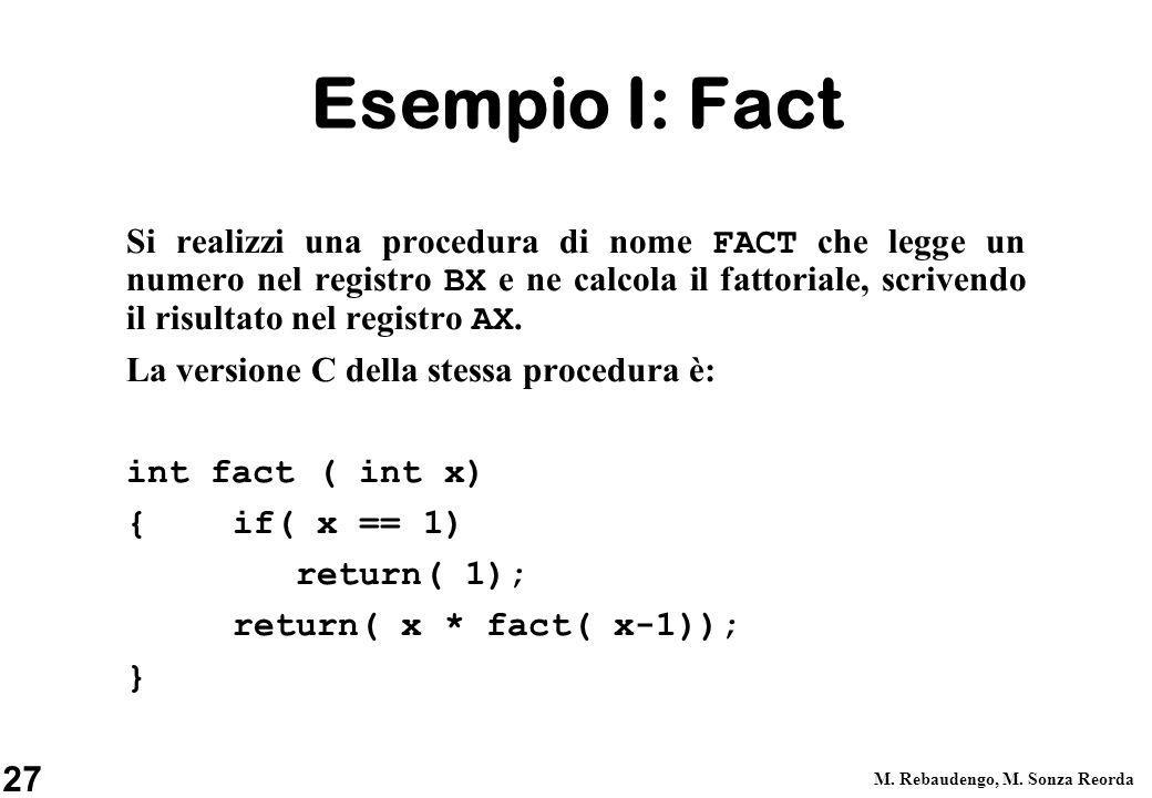 Esempio I: Fact