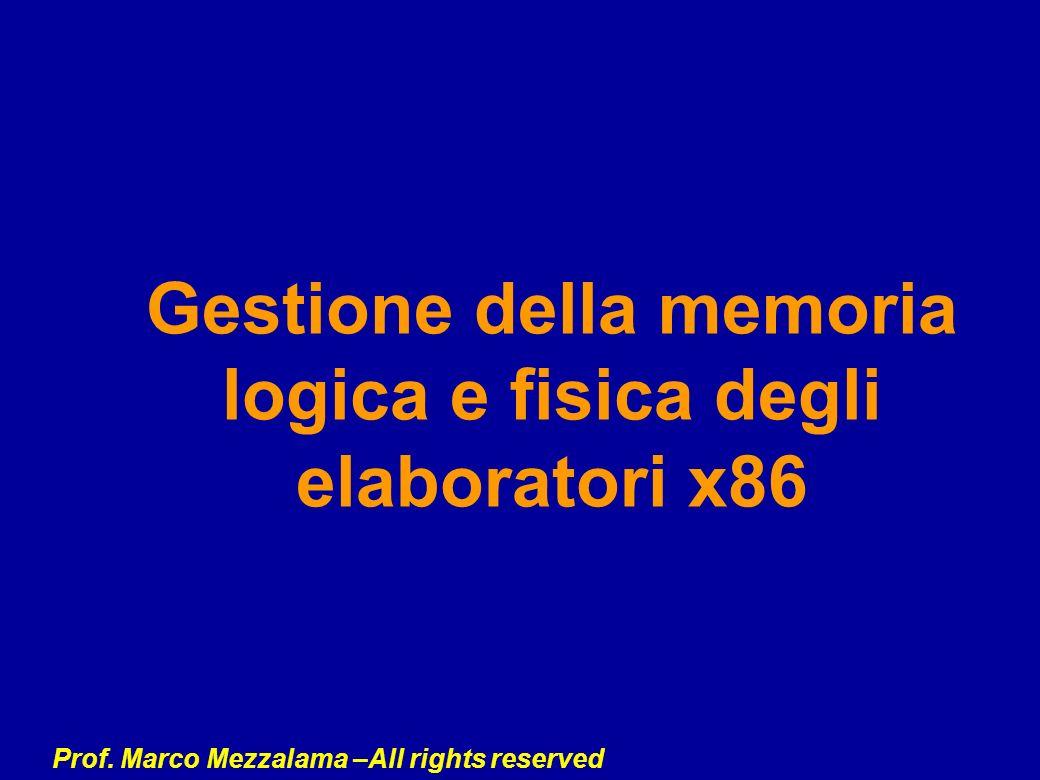 Gestione della memoria logica e fisica degli elaboratori x86