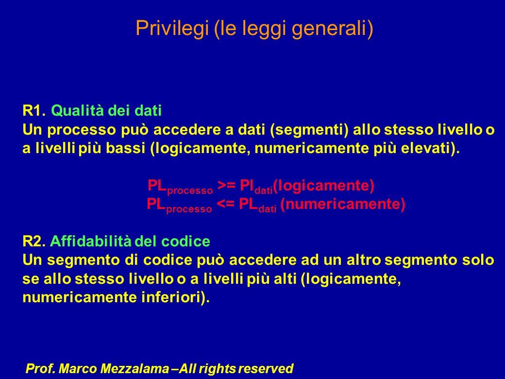 Privilegi (le leggi generali)