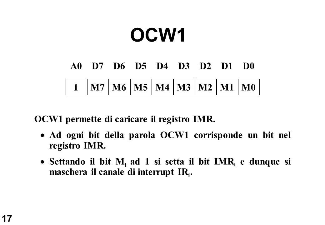 OCW1 A0 D7 D6 D5 D4 D3 D2 D1 D0 1 M7 M6 M5 M4 M3 M2 M1 M0