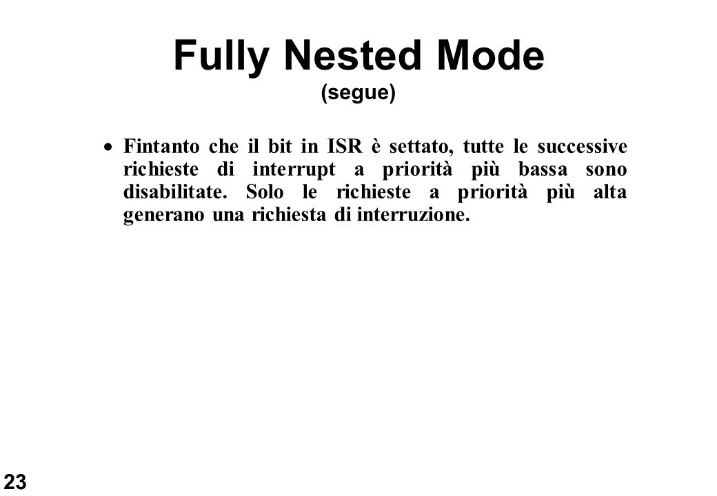 Fully Nested Mode (segue)