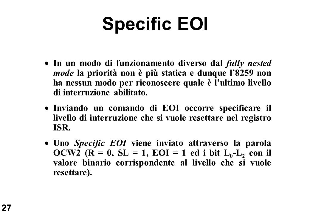 Specific EOI