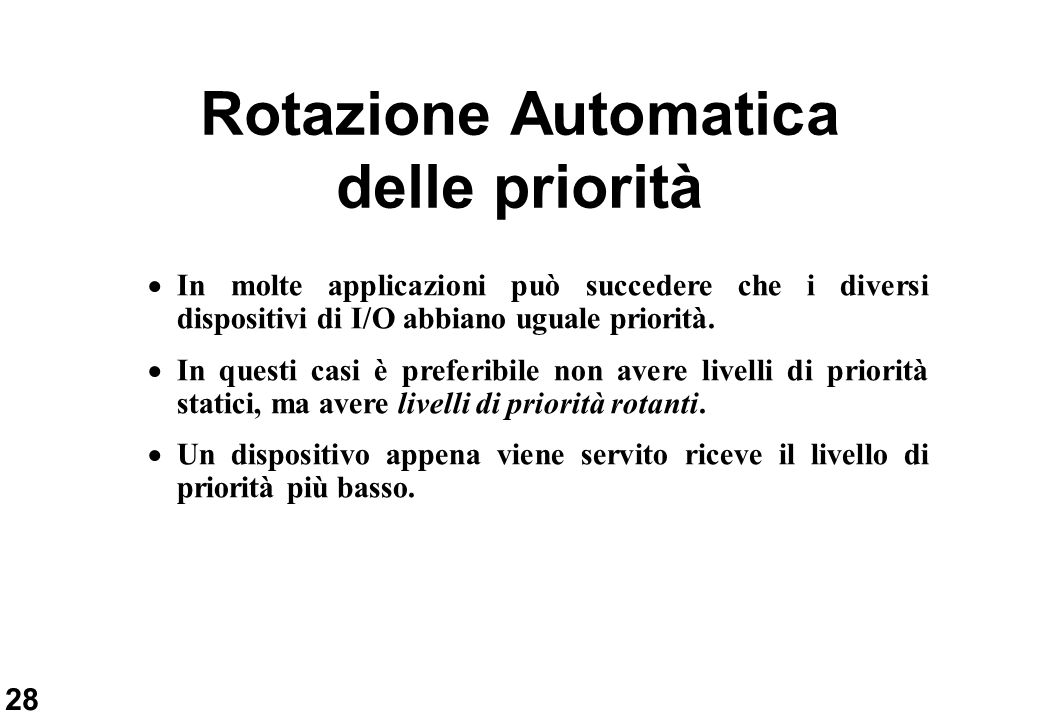 Rotazione Automatica delle priorità