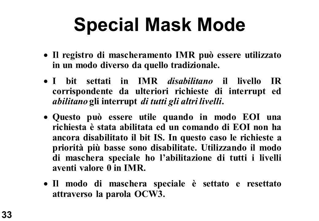 Special Mask Mode Il registro di mascheramento IMR può essere utilizzato in un modo diverso da quello tradizionale.