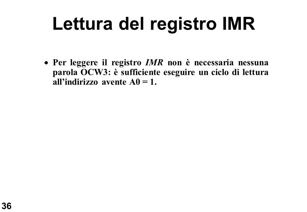Lettura del registro IMR