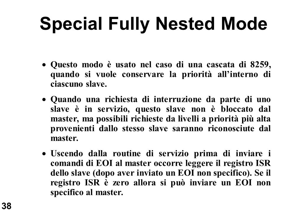 Special Fully Nested Mode