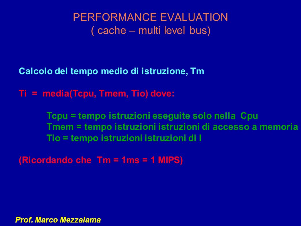 PERFORMANCE EVALUATION ( cache – multi level bus)