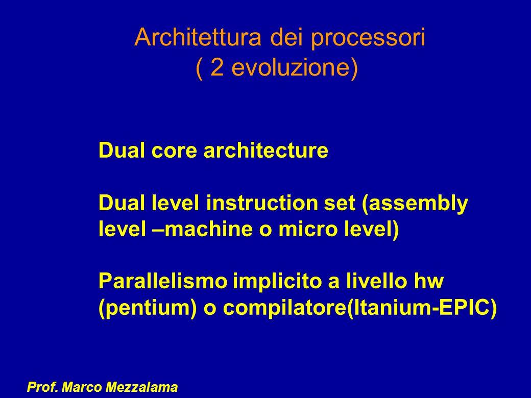 Architettura dei processori ( 2 evoluzione)