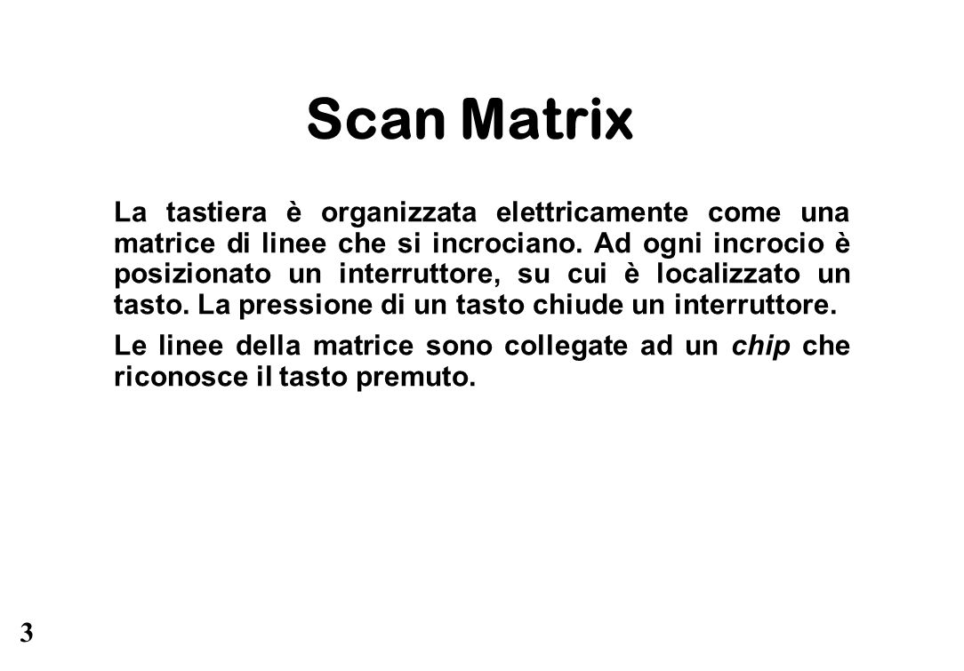 Scan Matrix