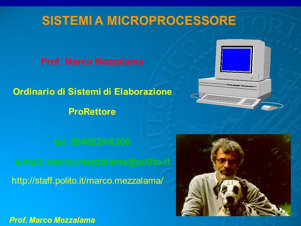 SISTEMI A MICROPROCESSORE