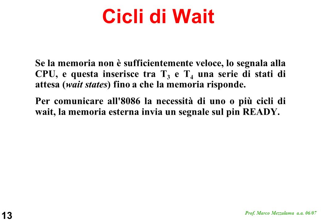 Cicli di Wait