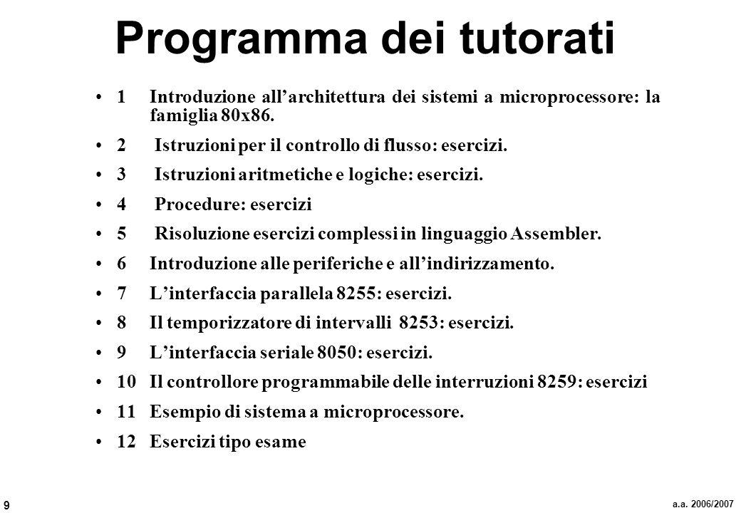 Programma dei tutorati