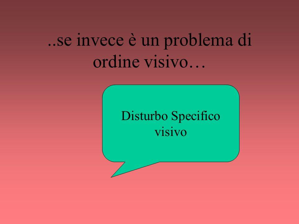 ..se invece è un problema di ordine visivo…