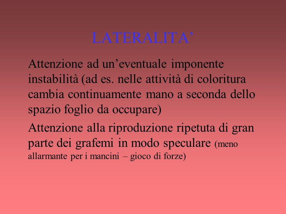 LATERALITA'