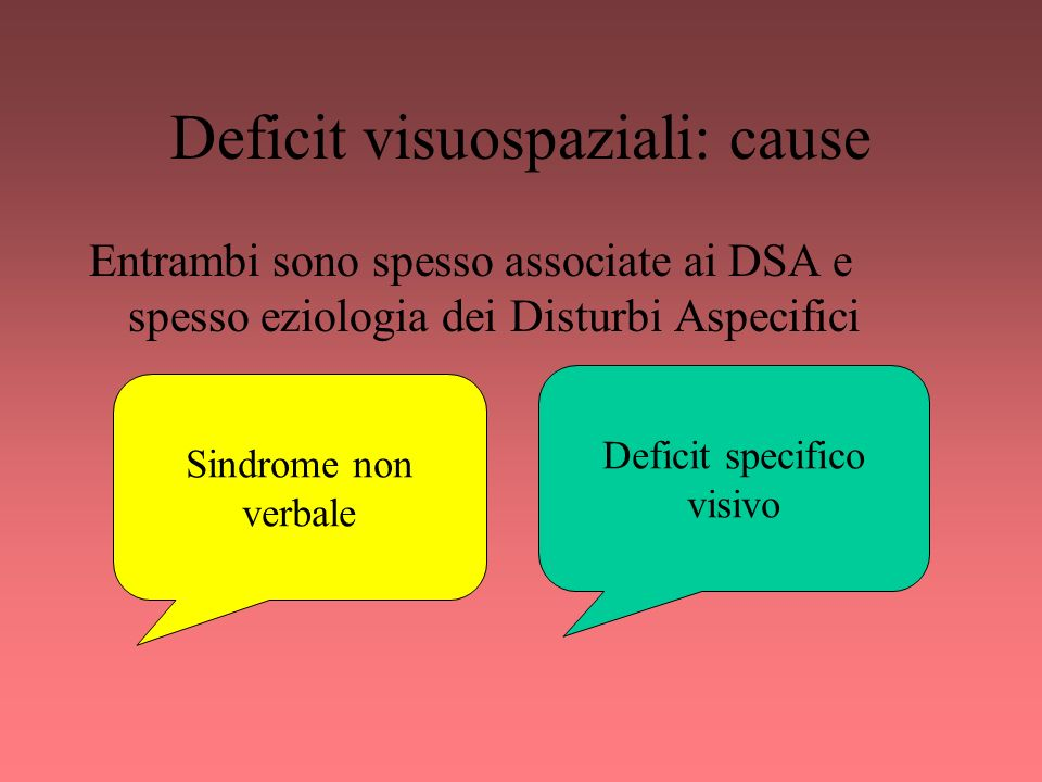 Deficit visuospaziali: cause