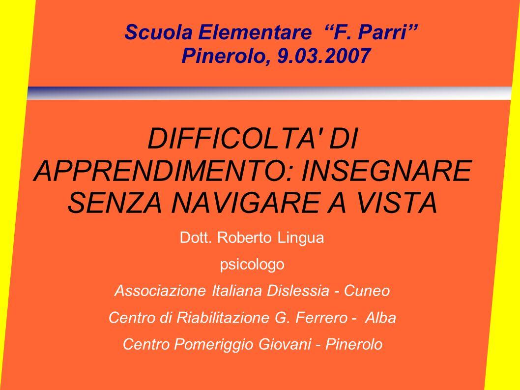 Scuola Elementare F. Parri Pinerolo, 9.03.2007