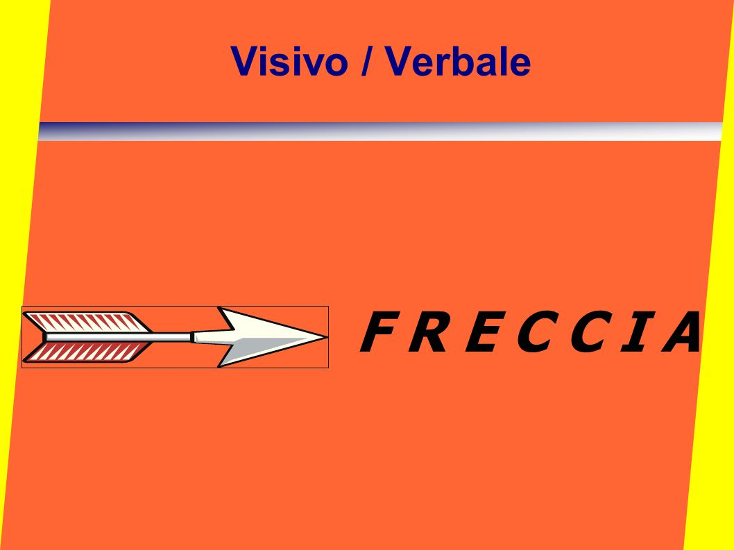 Visivo / Verbale F R E C C I A