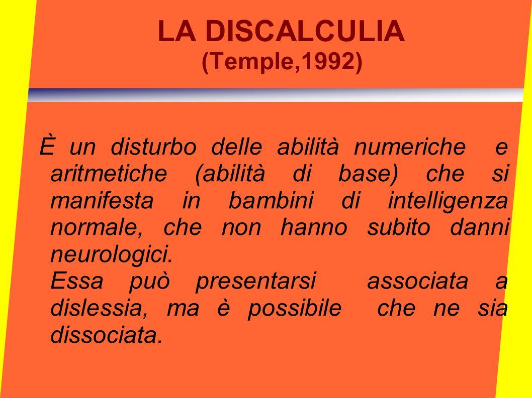 LA DISCALCULIA (Temple,1992)