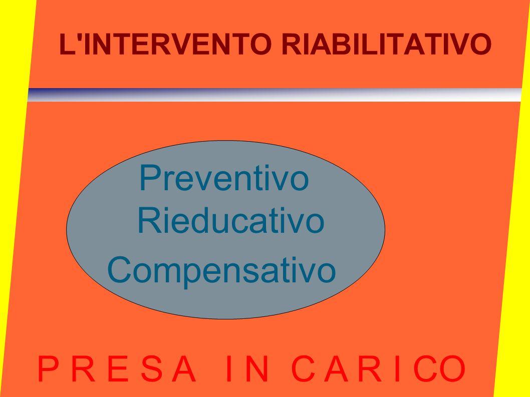 L INTERVENTO RIABILITATIVO