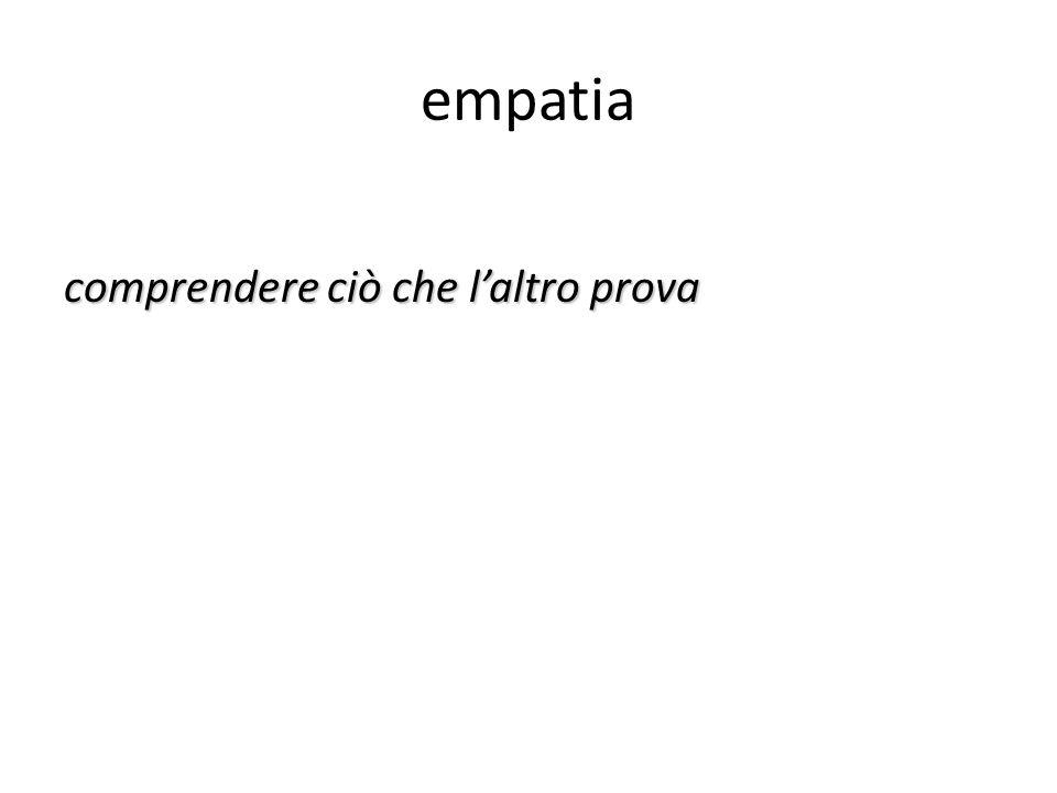 empatia comprendere ciò che l'altro prova