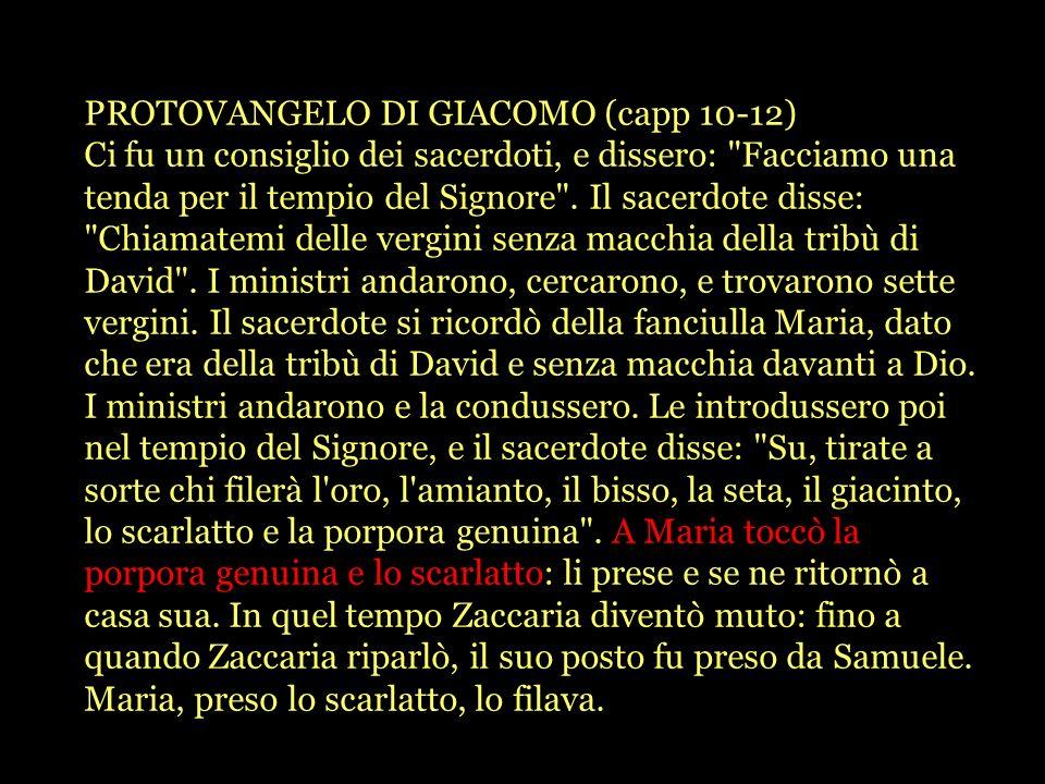 PROTOVANGELO DI GIACOMO (capp 10-12)