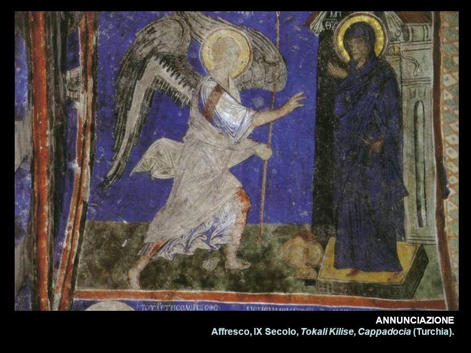 ANNUNCIAZIONE Affresco, IX Secolo, Tokali Kilise, Cappadocia (Turchia).