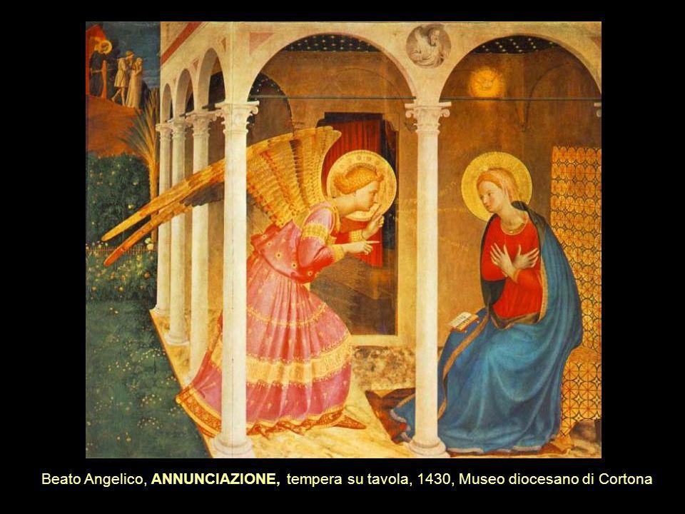 Beato Angelico, ANNUNCIAZIONE, tempera su tavola, 1430, Museo diocesano di Cortona