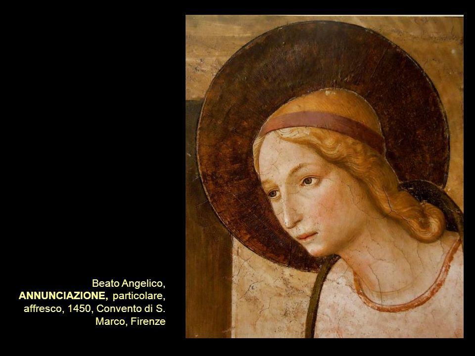 Beato Angelico, ANNUNCIAZIONE, particolare, affresco, 1450, Convento di S. Marco, Firenze