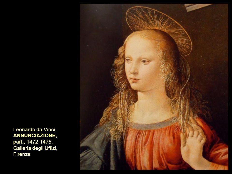 Leonardo da Vinci, ANNUNCIAZIONE, part