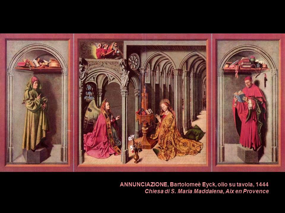 ANNUNCIAZIONE, Bartolomeè Eyck, olio su tavola, 1444