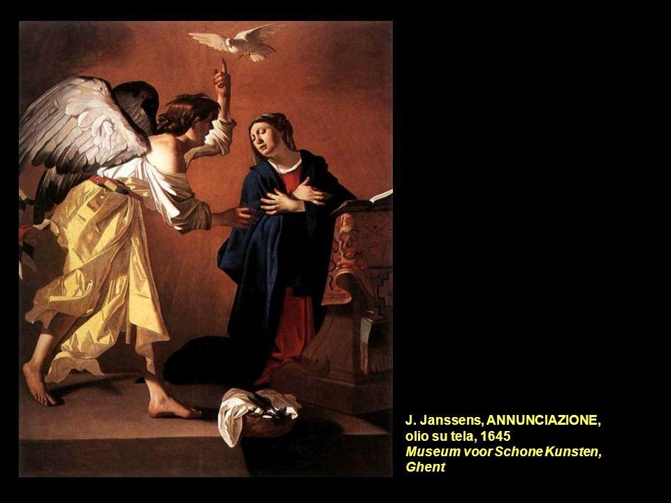 J. Janssens, ANNUNCIAZIONE, olio su tela, 1645