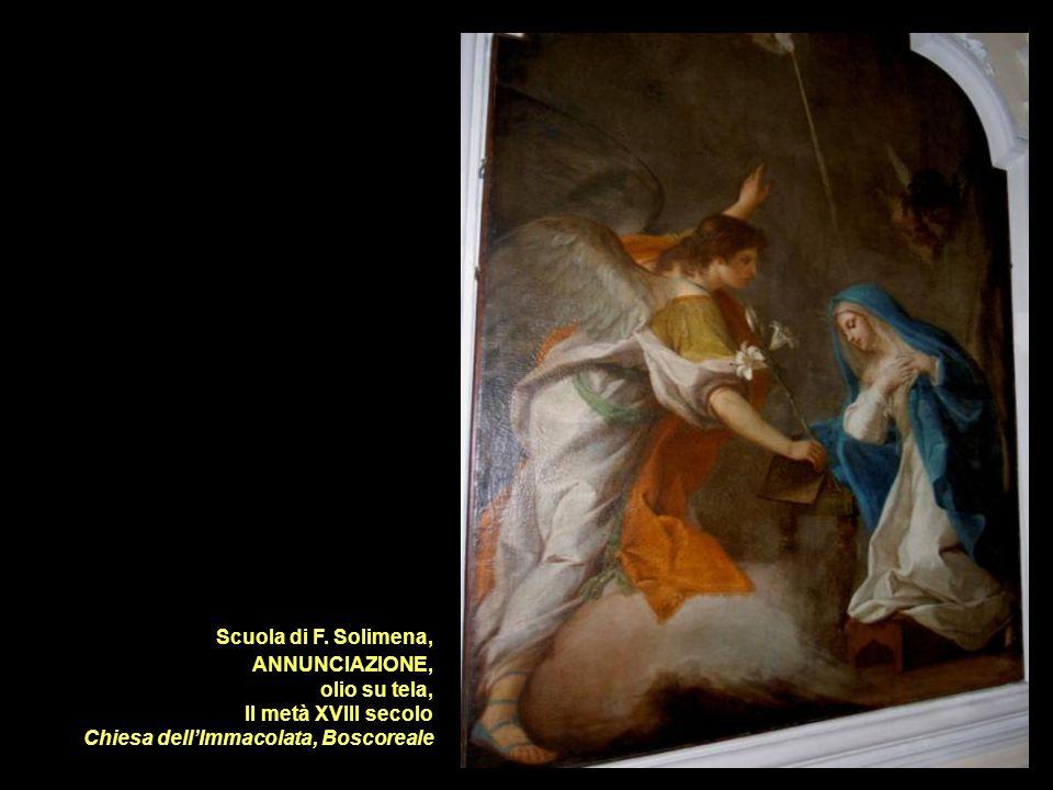 Scuola di F. Solimena, ANNUNCIAZIONE, olio su tela, II metà XVIII secolo.