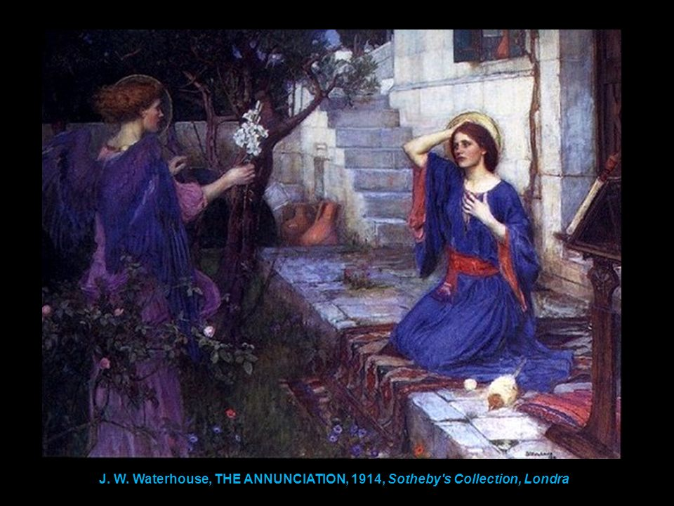 J. W. Waterhouse, THE ANNUNCIATION, 1914, Sotheby s Collection, Londra