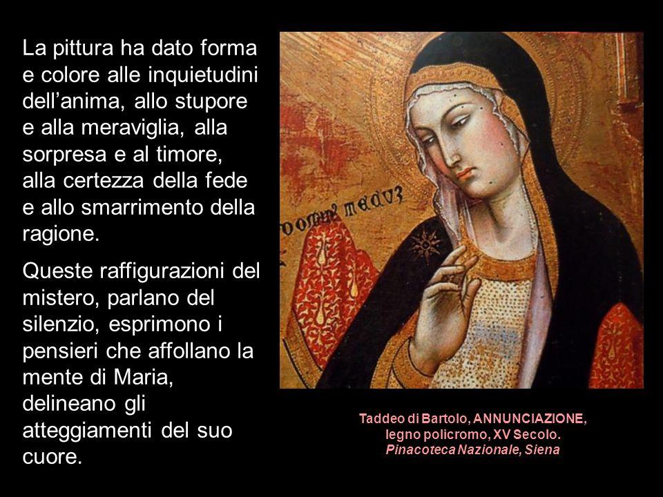 Taddeo di Bartolo, ANNUNCIAZIONE, legno policromo, XV Secolo.