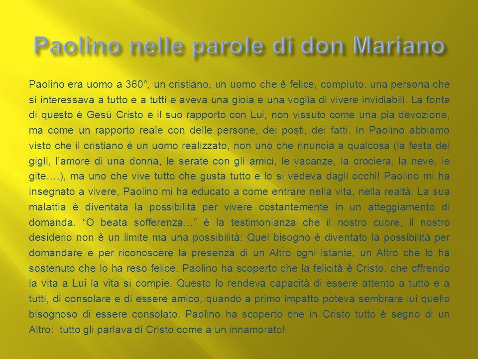 Paolino nelle parole di don Mariano