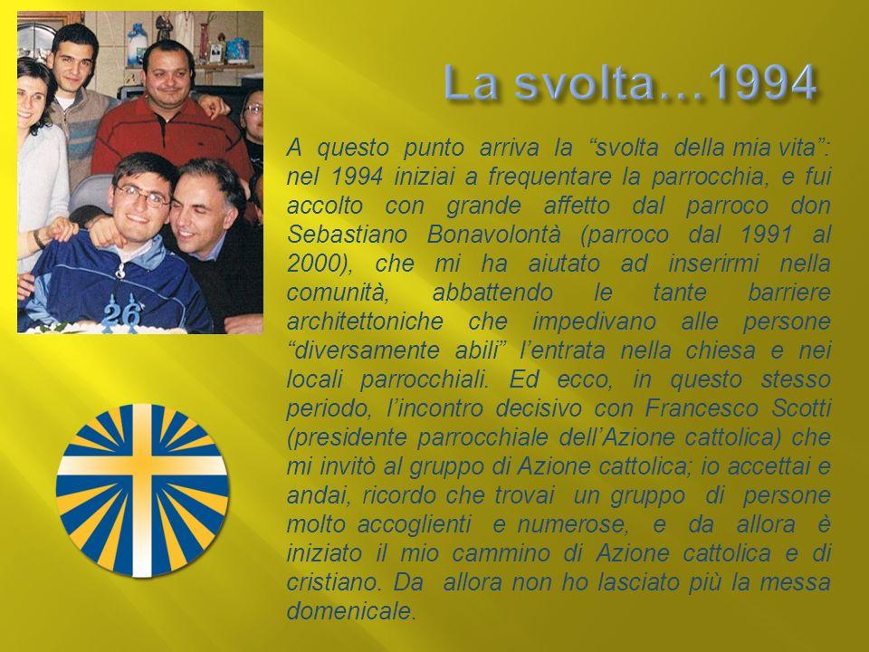 La svolta…1994