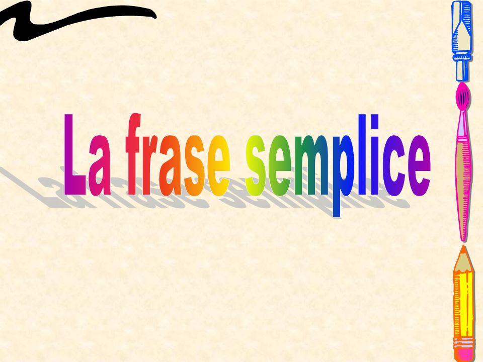 La frase semplice