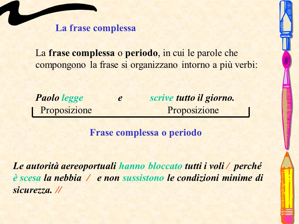 Frase complessa o periodo